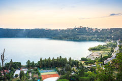 Castel Gandolfo and Albano Lake, Italy. Castel Gandolfo and Albano Lake, Lazio, Italy Royalty Free Stock Photography