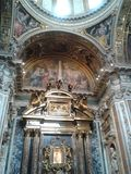 Castel Gandolfo, Basilica di Santa Maria Maggiore, building, tourist attraction, dome, basilica. Castel Gandolfo, Basilica di Santa Maria Maggiore is building stock photos