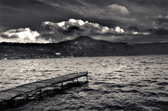 Castel gandolfo lake. This is the lake seen from the harbour Royalty Free Stock Photos