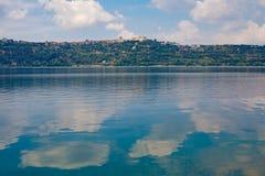 Castel Gandolfo Lake View fotografering för bildbyråer