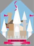 Castel. Illustration castel in flat style Stock Photo