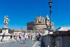 castel Italie Rome d'Angelo sant Photos libres de droits
