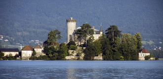 Castel on lake Annecy Royalty Free Stock Photo