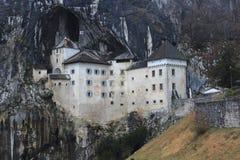 Castel Lueghi Predjama Castle i Slovenien Slovenija arkivbild