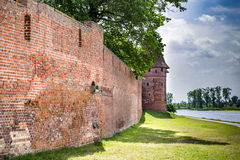 The castel in Malbork, Marienburg.Teutonic knights architecture in Poland.  Ordensritter and the Ordensritterstaat. The castel in Malbork, Marienburg as seen Stock Photography