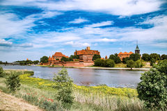 The castel in Malbork, Marienburg.Teutonic knights architecture in Poland.  Ordensritter and the Ordensritterstaat. The castel in Malbork, Marienburg as seen Royalty Free Stock Photos