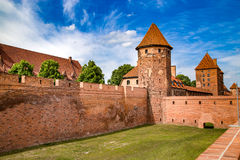 The castel in Malbork, Marienburg.Teutonic knights architecture in Poland.  Ordensritter and the Ordensritterstaat. The castel in Malbork, Marienburg as seen Royalty Free Stock Images