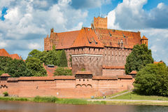 The castel in Malbork, Marienburg.Teutonic knights architecture in Poland.  Ordensritter and the Ordensritterstaat. The castel in Malbork, Marienburg as seen Stock Photo
