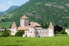 Castel Mareccio Bolzano. Castel Mareccio / Schloss Maretsch is a wonderful castle in Bolzano / Bozen (South Tyrol - Italy Stock Photography