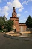 Castel medieval del sforza, Milano Foto de archivo libre de regalías
