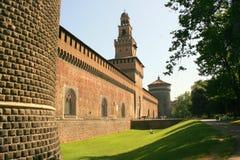 Castel medieval del sforza, Milano Imágenes de archivo libres de regalías