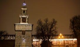 castel milano en sforzesco Arkivfoto