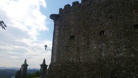 Castel on the mountain stock photos