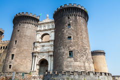 Castel Nouvo is a medieval castle in Naples Stock Images