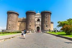 Castel Nouvo, medieval castle in Naples Stock Photo