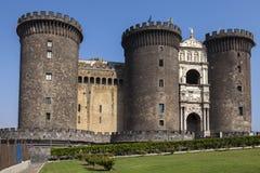 Castel Nuovo在那不勒斯,意大利 免版税库存图片