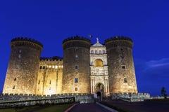 Castel Nuovo em Nápoles, Itália imagens de stock