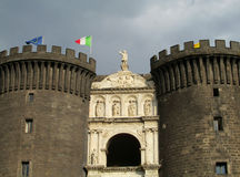 Castel Nuovo gate towers, Naples Royalty Free Stock Photo