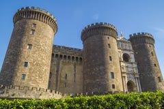 Castel Nuovo i Naples Arkivbilder