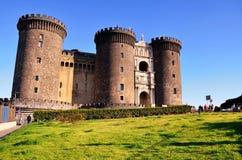 Castel Nuovo - Maschio Angioino, Napoli Naples, Italien Arkivfoto