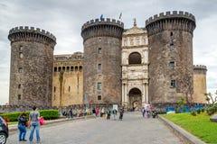 Castel Nuovo, Napels, Italië royalty-vrije stock fotografie