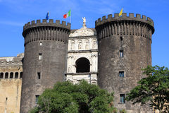 Castel Nuovo, Naples. Castel Nuovo (Maschio Angioino) is a medieval castle in Naples, Italy Royalty Free Stock Photography