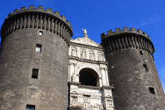 Castel Nuovo, Naples. Castel Nuovo (Maschio Angioino) is a medieval castle in Naples, Italy Royalty Free Stock Photos