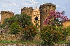 Castel Nuovo, Naples Italien Arkivfoto