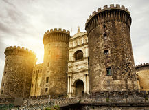The Castel Nuovo in Naples, Italy Stock Photos