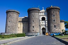 Castel Nuovo in Naples Stock Photography