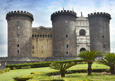 Castel nuovo New Castle or Castle of Maschio Angioino in Naples, Italy Royalty Free Stock Image