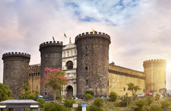 Castel nuovo (New Castle) or Castle of Maschio Angioino in Naples, Italy Royalty Free Stock Images