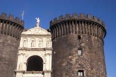 Castel Nuovo New Castle, Nápoles, Itália fotos de stock royalty free