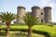 Castel Nuovo (New Castle), Napoli, Naples, Italy. The medieval castle of Maschio Angioino or Castel Nuovo (New Castle), Naples, Italy royalty free stock photography