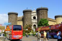 Castel Nuovo ou Maschio Angioino à Naples Images stock