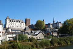 The Castel of Pau in France stock images