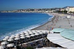Castel Plage Beach, Nizza an einem schönen Sommertag Lizenzfreies Stockbild