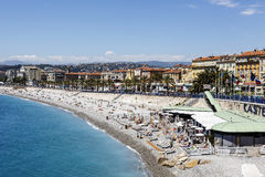 Castel Plage in Nice Stock Photo