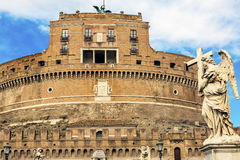 Castel Ponte Sant Angelo Vatican Bernini Angel Rome Italy Royalty-vrije Stock Afbeelding
