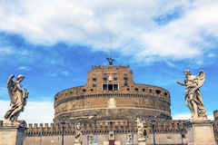 Castel Ponte Sant Angelo Vatican Bernini Angels Rome Italy Royalty Free Stock Photos