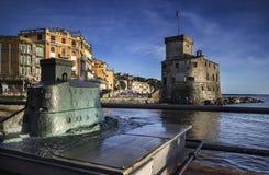 Castel of Rapallo Stock Photography