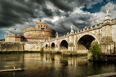 castel Rome d'Angelo sant Images stock