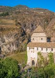 Castel Roncolo near Bolzano, in the region of Trentino Alto Adige, in Italy. Roncolo Castle is a medieval fortification on a rocky spur in the territory of stock images