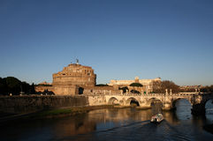 Castel S Angelo, Rome - Italië Stock Foto's