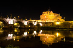 Castel Saint Angelo. In Rome, Italy Royalty Free Stock Image