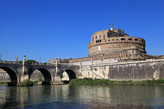 Castel Saint Angelo and Tiber River Stock Photography