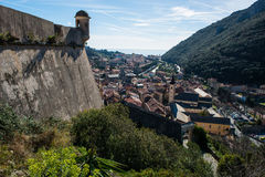 Castel San GIovanni i Finalborgo arkivbilder