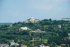 Castel San Pietro is een kasteel in Verona, noordelijk Italië royalty-vrije stock afbeeldingen