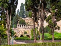 Castel San Pietro StPeters slott italy verona November 2018 royaltyfria bilder