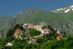 Castel San Vincenzo country. Castel San Vincenzo mainarde central Apennines Italy stock photo